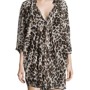 Diane Von Furstenberg Fleurette leopard silk dress